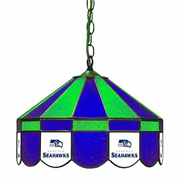 Seattle Seahawks 16 Inch Diameter Stained Glass Pub Light