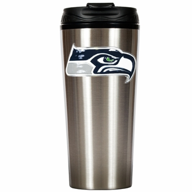 Seattle Seahawks 16 oz. Thermo Travel Tumbler (Slim)