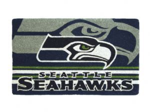 Seattle Seahawks 18x30 Bleached Welcome Mat