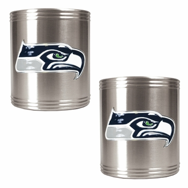 Seattle Seahawks 2 Can Holder Set
