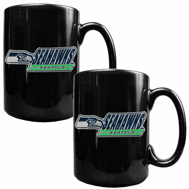 Seattle Seahawks 2 Piece Coffee Mug Set (Wordmark)
