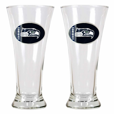 Seattle Seahawks 2 Piece Pilsner Glass Set