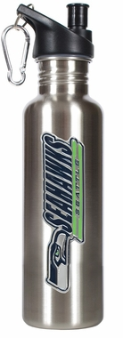 Seattle Seahawks 26oz Stainless Steel Water Bottle (Silver)