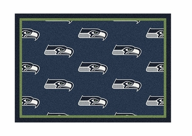 "Seattle Seahawks 3'10"" x 5'4"" Premium Pattern Rug"