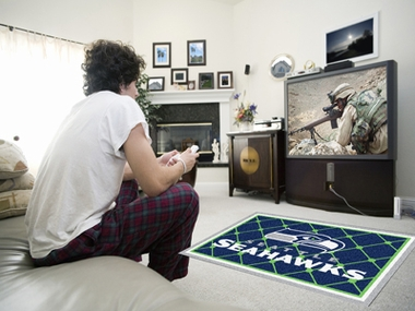Seattle Seahawks 4 Foot x 6 Foot Rug