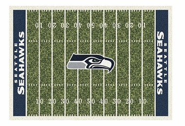 "Seattle Seahawks 5'4"" x 7'8"" Premium Field Rug"
