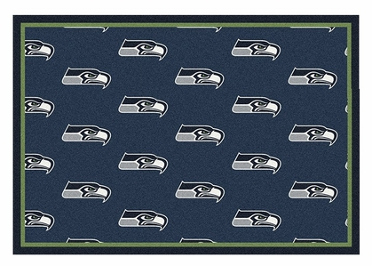 "Seattle Seahawks 5'4"" x 7'8"" Premium Pattern Rug"