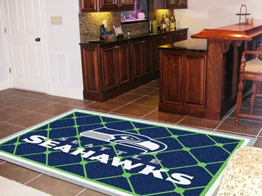 Seattle Seahawks 5 Foot x 8 Foot Rug