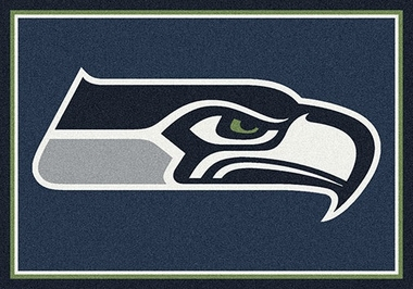 "Seattle Seahawks 7'8"" x 10'9"" Premium Spirit Rug"