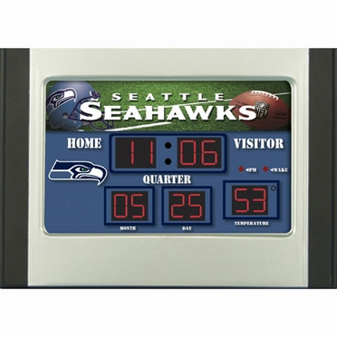 Seattle Seahawks Alarm Clock Desk Scoreboard