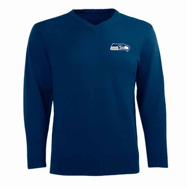 Seattle Seahawks Mens Ambassador Sweater (Team Color: Navy)