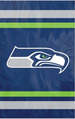 Seattle Seahawks Applique Banner Flag
