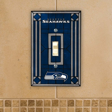 Seattle Seahawks Art Glass Lightswitch Cover