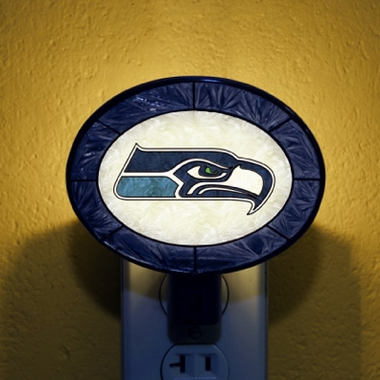 Seattle Seahawks Art Glass Night Light
