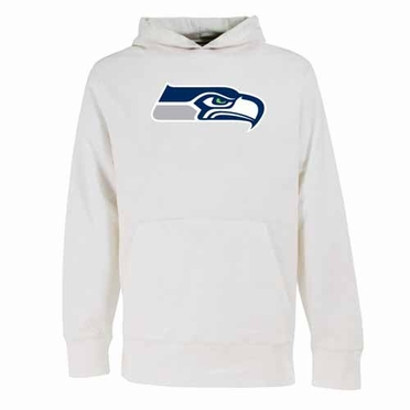 Seattle Seahawks Big Logo Mens Signature Hooded Sweatshirt (Alternate Color: White)