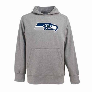 Seattle Seahawks Big Logo Mens Signature Hooded Sweatshirt (Color: Gray)