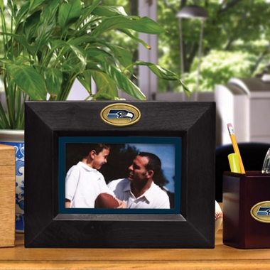 Seattle Seahawks BLACK Landscape Picture Frame