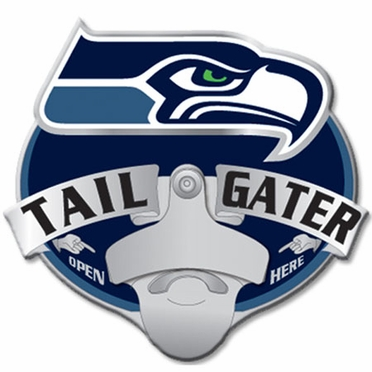 Seattle Seahawks Bottle Opener Hitch Cover