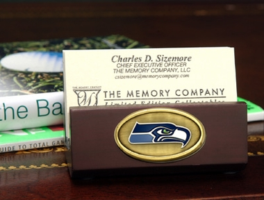 Seattle Seahawks Business Card Holder