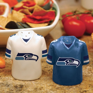 Seattle Seahawks Ceramic Jersey Salt and Pepper Shakers
