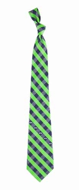 Seattle Seahawks Check Poly Necktie