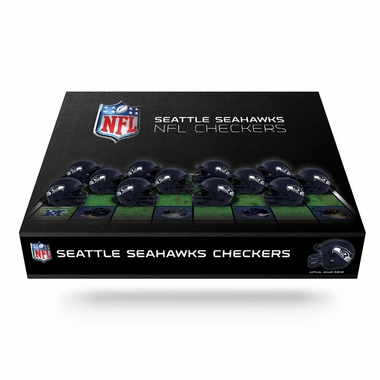 Seattle Seahawks Checkers Set