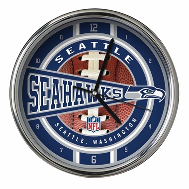 Seattle Seahawks Chrome Clock