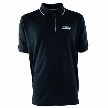 Seattle Seahawks Mens Elite Polo Shirt (Team Color: Navy)