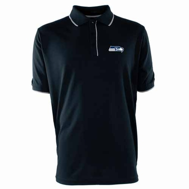 Seattle Seahawks Mens Elite Polo Shirt (Color: Navy)