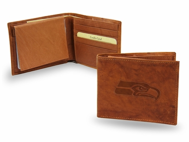 Seattle Seahawks Embossed Leather Bifold Wallet