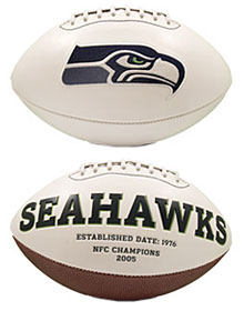 Seattle Seahawks Full Size Embroidered Signature Series Football