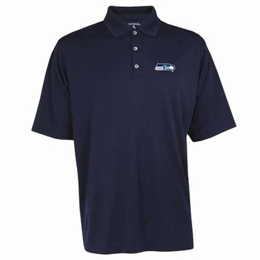 Seattle Seahawks Mens Exceed Polo (Team Color: Navy)