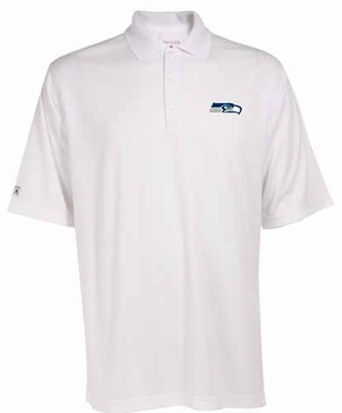 Seattle Seahawks Mens Exceed Polo (Color: White)