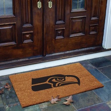 Seattle Seahawks Flocked Coir Doormat