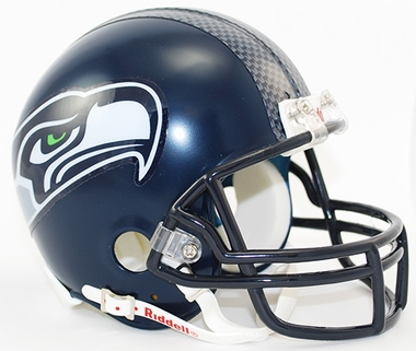 Seattle Seahawks Replica Mini Helmet w/ Z2B Face Mask