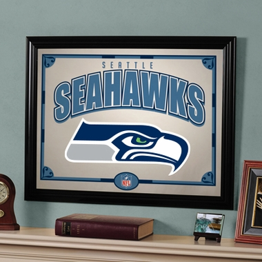 Seattle Seahawks Framed Mirror