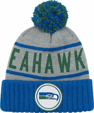 Seattle Seahawks High 5 Vintage Cuffed Pom Hat