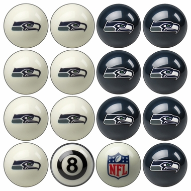 Seattle Seahawks Home and Away Complete Billiard Ball Set