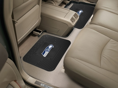Seattle Seahawks SET OF 2 Heavy Duty Vinyl Rear Car Mats