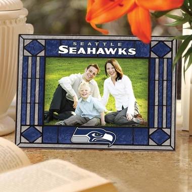 Seattle Seahawks Landscape Art Glass Picture Frame