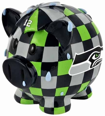 Seattle Seahawks Large Thematic Piggy Bank