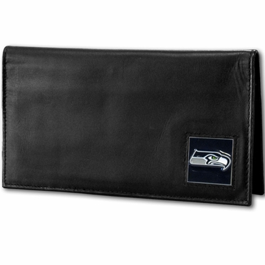 Seattle Seahawks Leather Checkbook Cover (F)