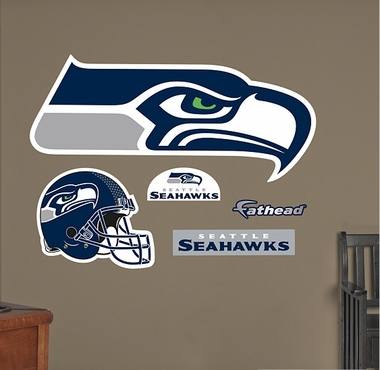 Seattle Seahawks Logo Fathead Wall Graphic