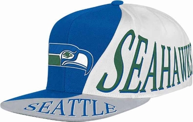 Seattle Seahawks Mitchell & Ness The Skew Retro Vintage Snap Back Hat