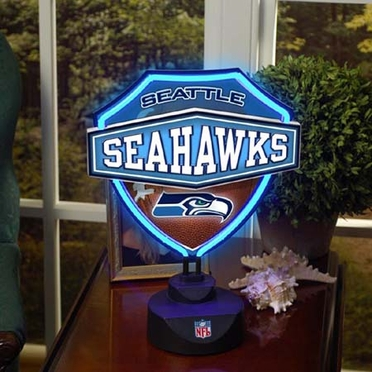 Seattle Seahawks Neon Shield Table Lamp