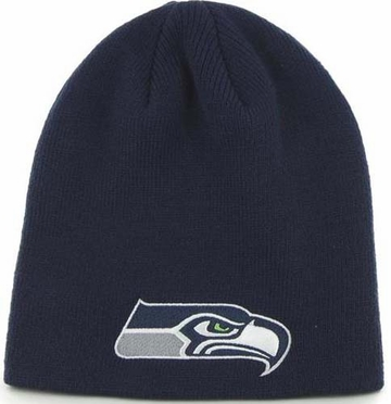 Seattle Seahawks NFL 47 Brand Team Logo Cuffless Knit Beanie Hat