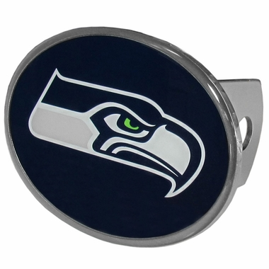 Seattle Seahawks Oval Metal Hitch Cover