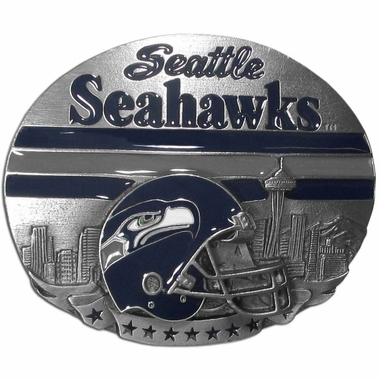 Seattle Seahawks Enameled Belt Buckle