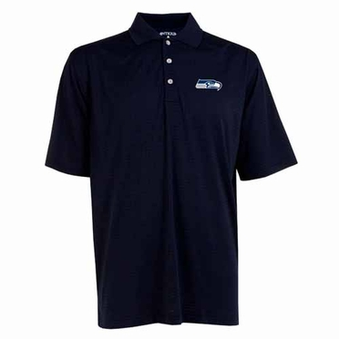 Seattle Seahawks Mens Phoenix Waffle Weave Polo (Team Color: Navy)