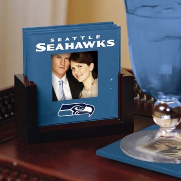 Seattle Seahawks Photo Coaster Set